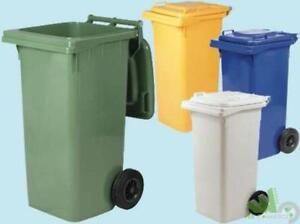 Bidone spazzatura raccolta differenziata con ruote lt verde