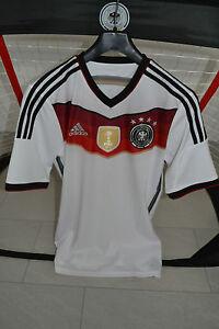 Details zu ORIG. ADIDAS DEUTSCHLAND Trikot WM 2014 Home,M,NEU,4 Sterne,FIFA,Weiß,DFB TRIKOT