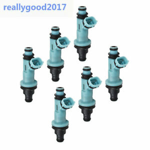 Genuine Denso Set Of 6 Fuel Injectors for Toyota Supra Lexus GS300 SC300 IS300