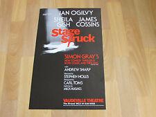 Ian OGILVY in STAGE STRUCK Comedy Thriller Original VAUDEVILLE Theatre Poster