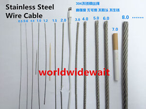 1.5 Mm Stainless Steel Wire   1 2mm 1 5mm 2mm Dia Long Flexible Stainless Steel Wire Cable 7x7