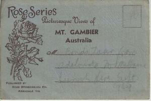 FOLD OUT VIEWS OF PICTURESQUE MT. GAMBIER SOUTH AUSTRALIA POSTCARD