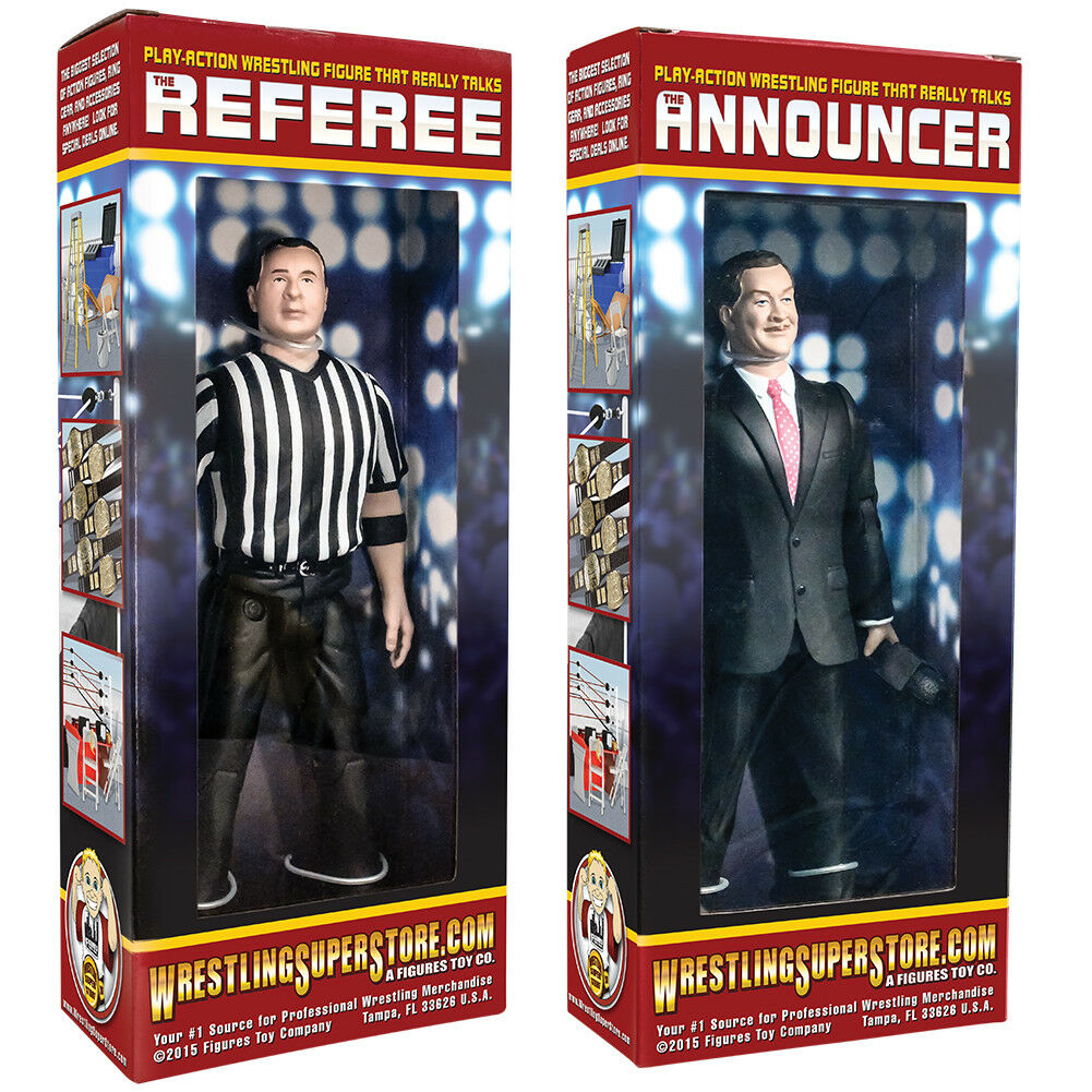 Special Deal  Talking Referee & Ring Announcer For WWE Wrestling Action Figures