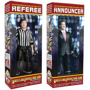 Special-Deal-Talking-Referee-amp-Ring-Announcer-For-WWE-Wrestling-Action-Figures