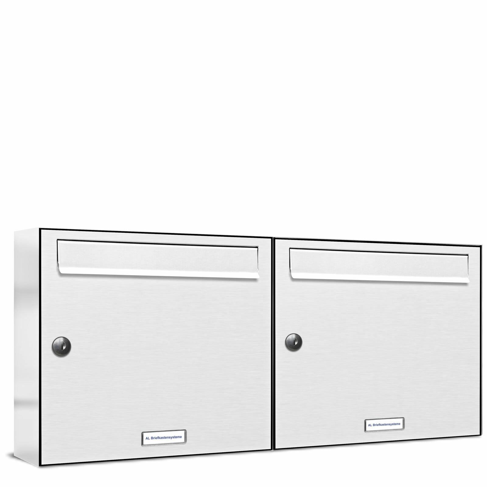2 er Premium Wand Briefkasten Verkehrswei RAL 9016  A4 Postkasten design 066