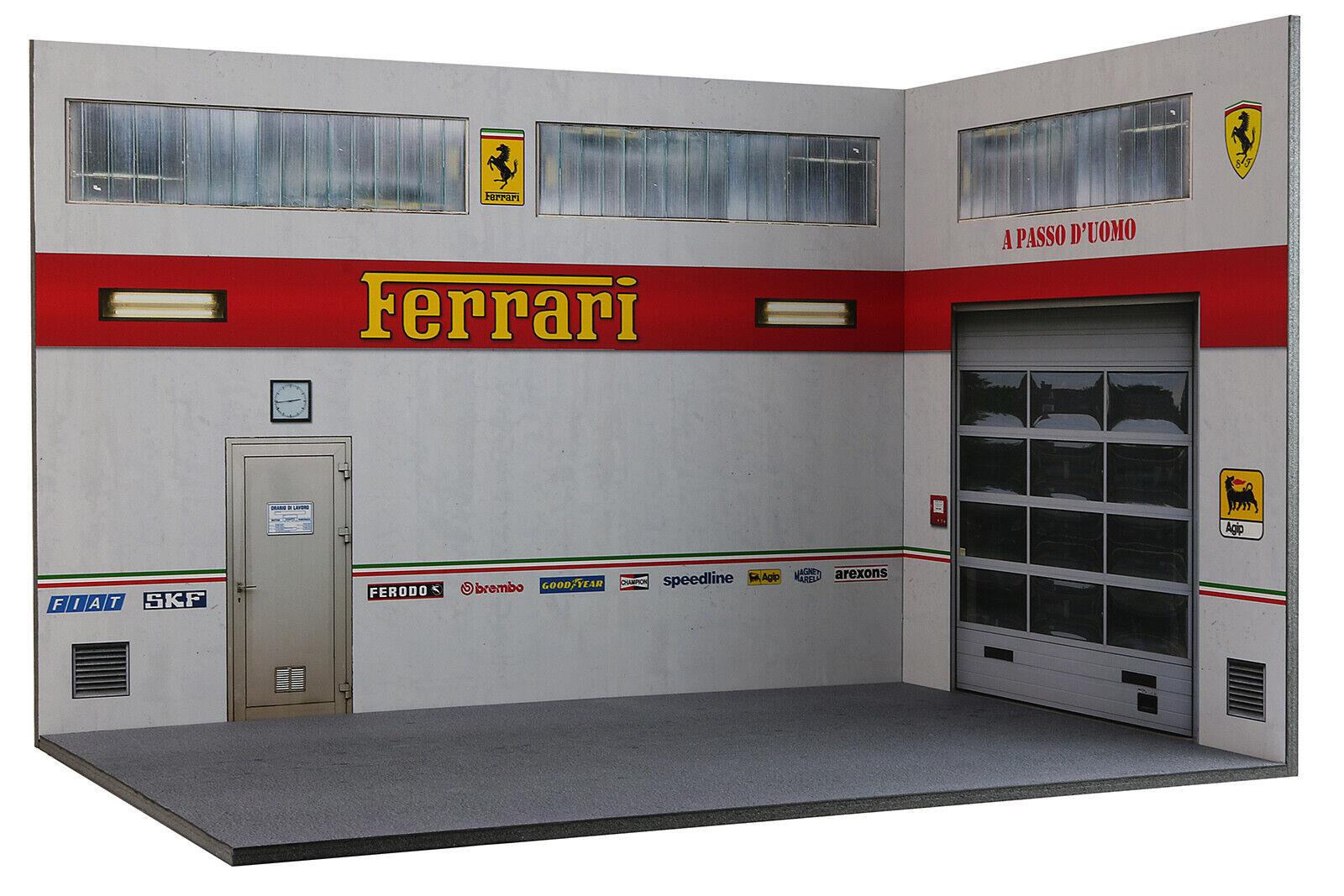 Diorama Garage Atelier Ferrari - 1 18ème - F-AX-AY-003