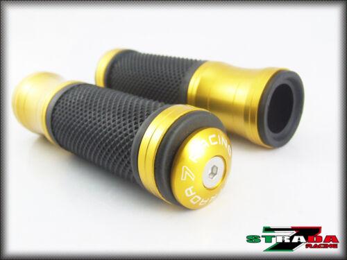 Strada 7 CNC Gold Grips /& Bar Ends Combo Suzuki GSXR600 GSXR750
