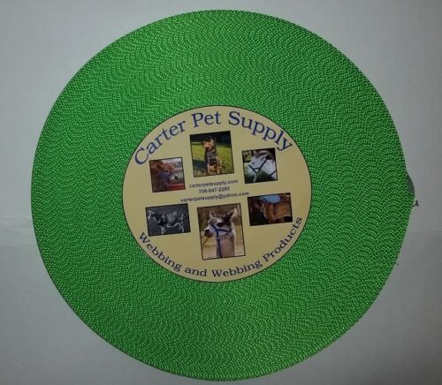 Carter Pet Supply 1 Inch Lime Green Heavy Nylon Webbing 20 Yards USA MADE