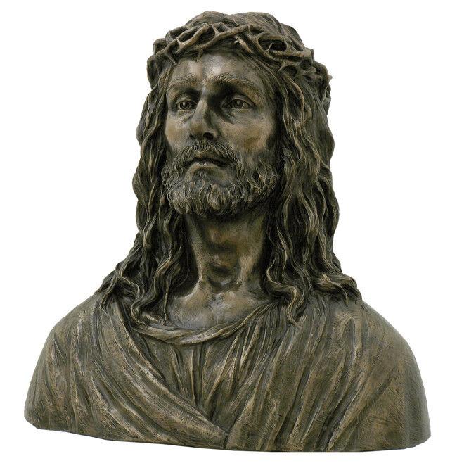 Méditation Sculpture Jésus de Nazareth BUSTE CHRIST Messie églises personnage Veronese