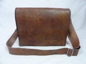 Leder-Messenger-Bag-17-034-Laptop-Rucksack-Schule-Vintage-Crossbody-Schultertasche