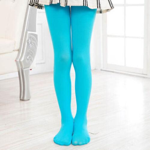 UK Girls Kids Tights Opaque Pantyhose Ballet Dance Socks Stocking Age 4-12 100D