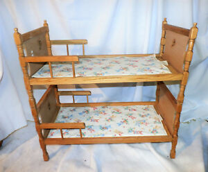 Image Is Loading Mid Century Wood Doll Bunk Bed C 1940s