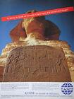 PUBLICITÉ PRESSE 1986 LE SPHINX DE GUIZEH - KUONI AGENCE DE VOYAGE - ADVERTISING