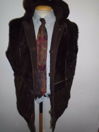 vintage pelle 40 Vintage 38 M 38 di Giacca in Jacket Sheepskin M Leather montone 40 dBExqCSw6