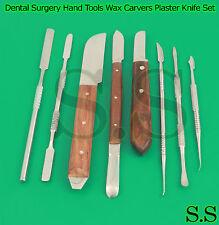 Dental Surgery Hand Tools Wax Modelling Carvers Plaster Knife Laboratory Kit