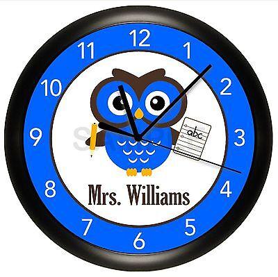 Classroom Home School Office Decor Teacher Bumble Bees WALL CLOCK GREAT GIFT