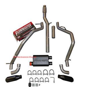 Fits 1999-2014 GMC Sierra 1500 5.3 Mandrel Bent Exhaust w// Flowmaster Super 44