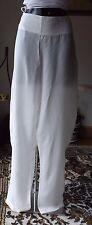 Women wear Sarah Pacini high waist 100%Cupro off white size 3 trousers 5266 BNWT