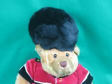 BIG KEEL TOYS BRITISH ROYAL QUEENS GUARD BEAR TEDDY BLACK FURRY HAT PLUSH