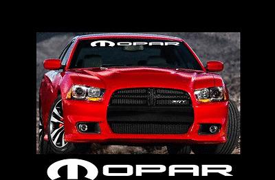 "MOPAR LOGO Custom Windshield Banner Lettering 4"" X 40"" Vinyl Decal Sticker"