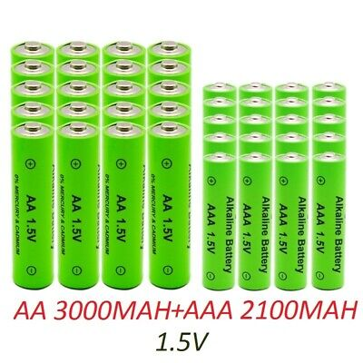 Aa Aaa Battery New Alkaline Rechargeable Batteries 1 5v 2100 3000mah Aa Aaa Lot Ebay