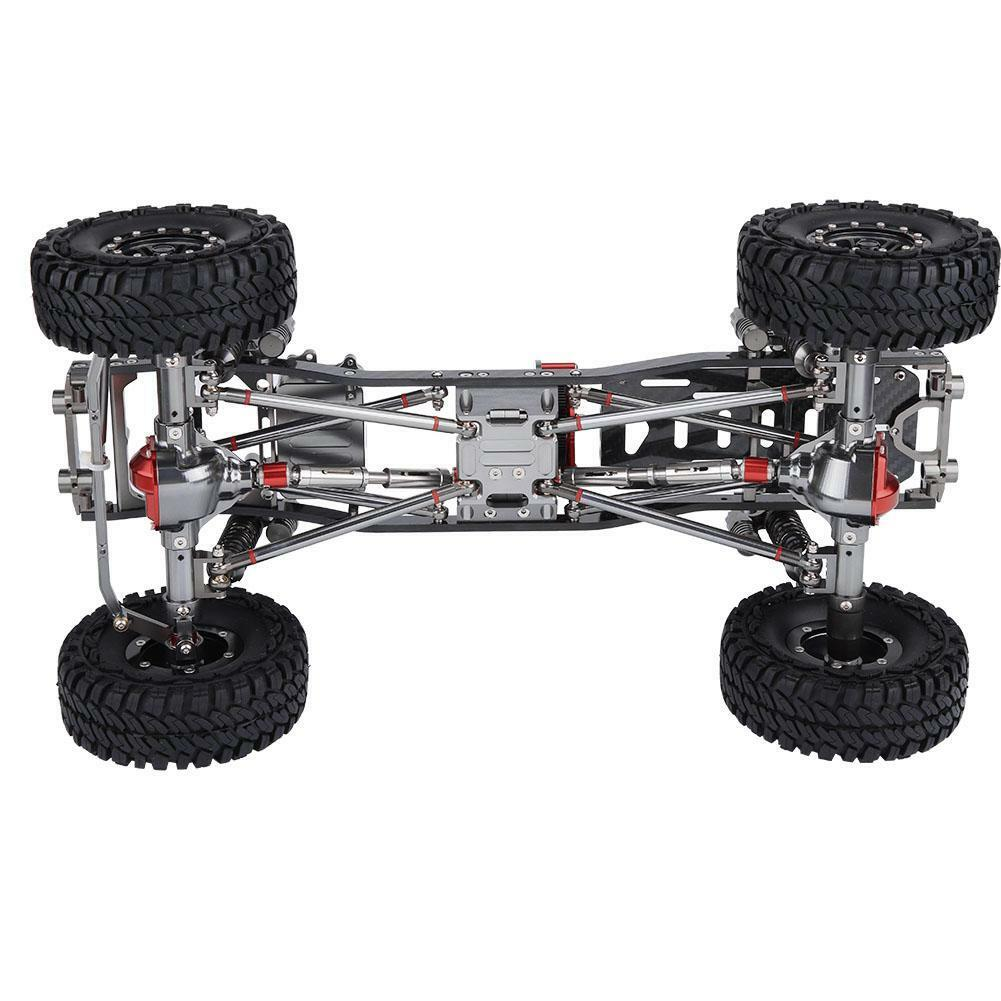 Aluminio CNC carbon RC auto marco kit Frame + neumáticos 313mm distancia entre ejes para axial scx10