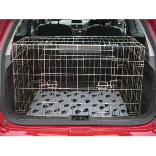 PET WORLD RENAULT CLIO 05-12 SLOPING CAR DOG CAGE BOOT TRAVEL CRATE PUPPY GUARD