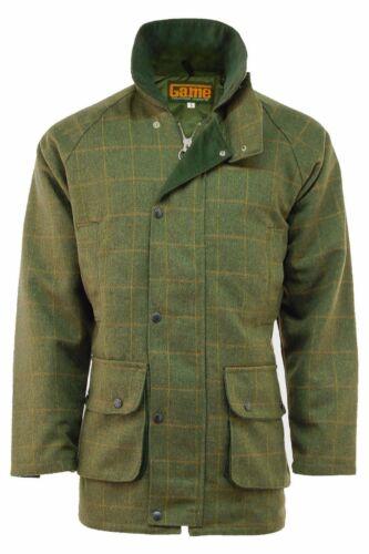 Game Mens Derby Tweed Hunting Fishing Shooting Jacket New