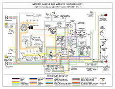 1953 53 1954 54 ford truck full color laminated wiring diagram 11 x rh ebay com