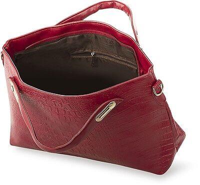 elegante Damentasche Handtasche mit Prägung Schlangenhaut - Optik