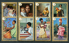 Rwanda 1975 MNH IWY International Women's Year 8v Set Vermeer Goya Art Stamps