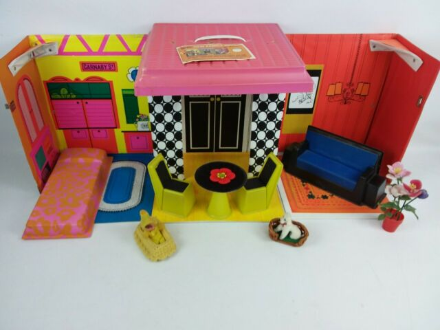 Vintage Barbie Family House with Original Furniture