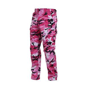 b633ead2afc77 PINK CAMO Cargo Pants Military BDU Army Marines Unisex Breast Cancer ...