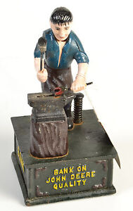 John-Deere-Cast-Iron-Money-Box-Vintage-Style-Mechanical-Coin-Bank