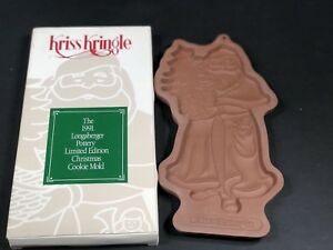 Details About Longaberger Pottery Christmas Cookie Mold Year 1991 Kris Kringle Limited Edition