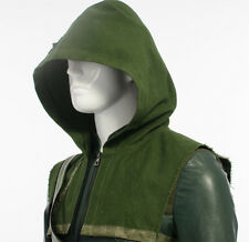1pcs Oliver Queen Green Arrow Cape Cosplay Costume Halloween Hood Only Green New