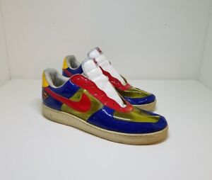 Details about Nike Air Force 1 Superman Red Blue Yellow See Through Rare Men Transparent SZ 13