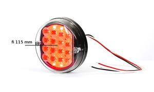 LED-Runde-Nebelschlussleuchte-Nebelscheinwerfer-Rot-Glas-Durchsichtig-12V-Nr-168
