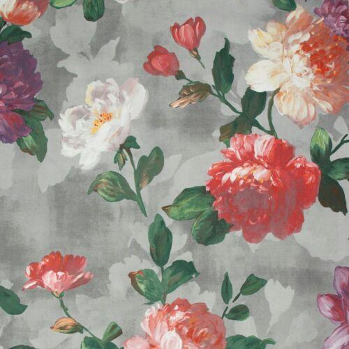 Floral Watercolours Graham /& Brown Prestige Isabelle Grey Wallpaper 108606