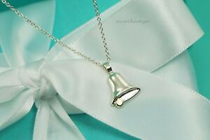 AUTHENTIC-Tiffany-amp-Co-RARE-Sterling-Silver-18K-Gold-Bell-Necklace-16-034-1098