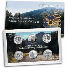 2 COIN SETS = 2005 WESTWARD JOURNEY NICKEL SET 6 COINS IN EACH SET K