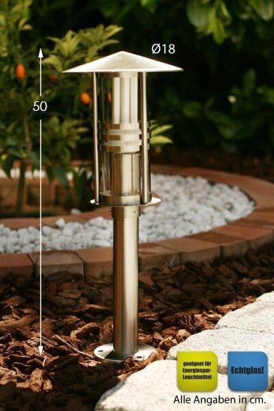 Illuminazione da esterni giardino acciaio inox metallo spazzolato vetro 687