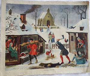 Details about Macmillan History Poster Village Life, Tudor Times, #77 Lupton
