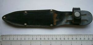 VINTAGE-ARMY-COMBAT-KNIFE-BLADE-LEATHER-HOLSTER-HOLDER-CASE-COLD-WEAPONS-sheath