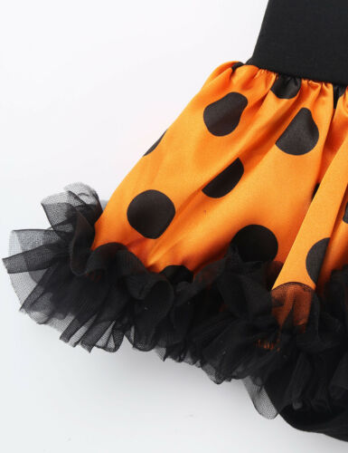 Infant Baby Girl 4Pcs Tutu Romper Headband Leg Warmer Shoes Set Halloween Outfit