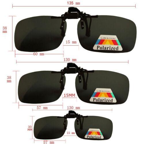 1 Paire Taille M Lunettes de soleil Clip On Flip Up Conduite Lunettes de soleil UV 400 Protection