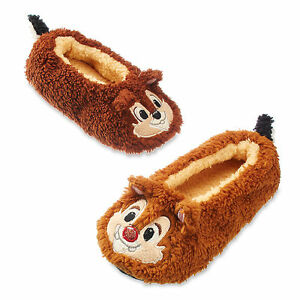 14c056a0 Disney Store Chip & Dale Chipmunk Kids Soft Slippers Shoes Size 11 ...