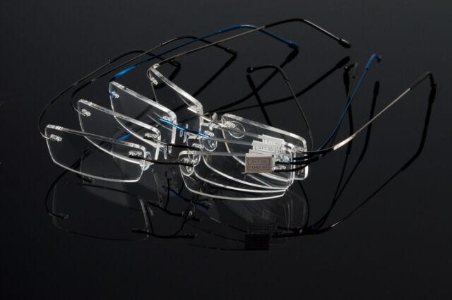 New Fashion Flexible Rimless Reading Glasses Light Weight Eyeglass Frames Reader