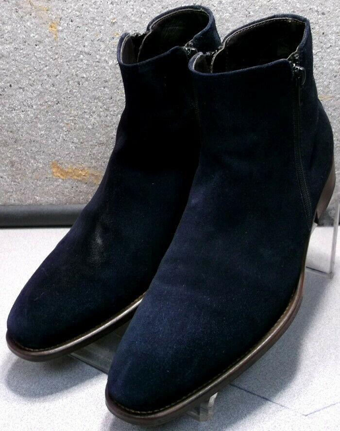 241837 PFiBT60 Men's Boots Size 8.5 M Navy Suede Made in  Johnston & Murphy