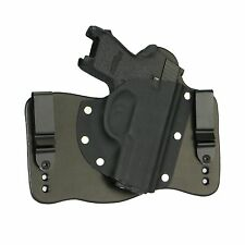 FoxX Leather & Kydex IWB Hybrid Holster Sig P250 Subcompact 9/40/45 Black Right